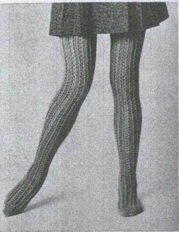 history of tights, hosiery and pantyhose - woman with skirt and stockings from 1970's